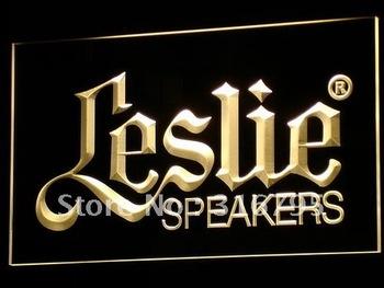 k044-y Leslie Speakers NEW Audio NR Neon Light Sign