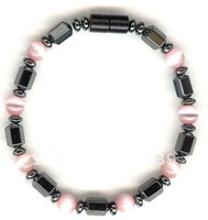 wholesale free shipping stretchable hematite bracelet magnetic bracelet 40pcs/lot