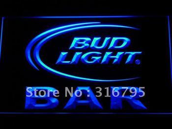 093-b BAR Bud Beer Neon Light Sign