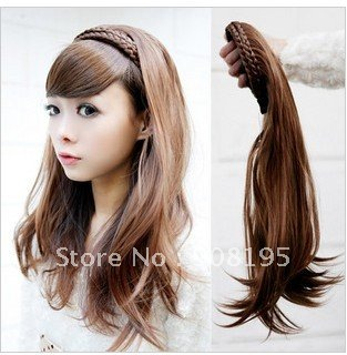 Free shipping Hair band Half Head Style Ponytail Wigs & Extensions
