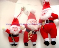 Free shipping 50 pcs/lot wholesale hot selling mix design christmas decoration santa claus hanging christmas gift to you
