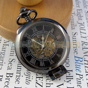 OEM pocket watch, Black Mechanical Watch 6394