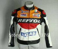 Free shipping DUHAN REPSOL PU men's motorcycle jacket motorcycle racing jacket PU leather motorcycle jacket