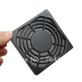 80x80mm Dustproof Dust Filter for 80 mm PC Computer Case Fan Black color