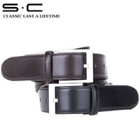 S.C Free Shipping wholesale  brand new genuine Cow Leather waist belt+ Classic mens Belt + Business Dress Belt 11825