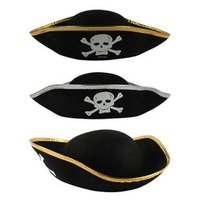 Adult Black Pirates Hat Halloween Party Costume Supplies. Free Shipping. 50 pcs