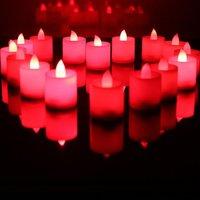 Wholesale - LED Electronic Candle Light Color Change Sensor Flicker 20pcs/lot