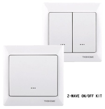z-wave wireless lighting control 3-way on/off switch Kits (1xZ-wave single swicth TZ66D+1x Z-wave dual switch TZ66D)