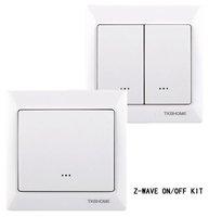 z-wave wireless lighting control 3-way on/off switch Kits (1xZ-wave single swicth TZ66D+1x Z-wave dual switch TZ66D)