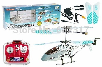 Wholesale - 21cm 3ch QS9008 RC Helicopter RTF / Gyro LED Lights & Metal Body Frame Remote radio Control Toys  QS 9008