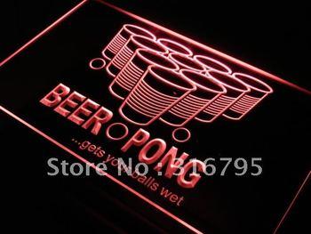j560-r Beer Pong Gets Your Balls Wet Neon Light Sign