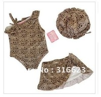 Free Shipping first-class qualitybaby girl Leopard print bikini swimwear 3~7T,child swimsuit,baby swimming suit, baby kid costum