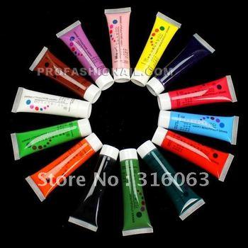 FREE SHIPPING 14 Colors 22ml Nail Paint 3d Nail Art acrylic painting Tube Set with box NA088