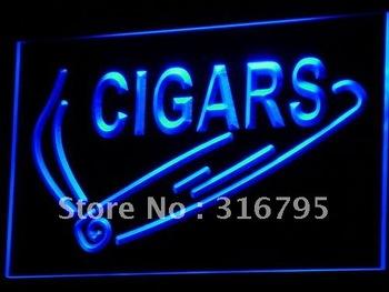 i532-b Cigars OPEN Display Shop Bar Pub Neon Light Sign