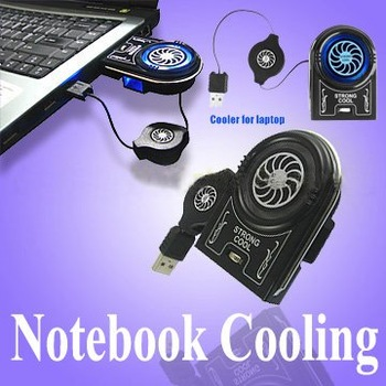 Laptop Cooler Mini Vacuum USB Case Notebook Cooling Fan - wholesale 6 pcs per lot