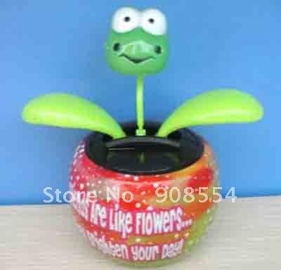 solar flip flap flower frog 30pcs per lot Free shipping via China post air parcel(China (Mainland))