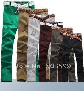 Otoño 2011 nueva moda coreana hombres de pantalones casuales, hombres rectos delgados pantalones vaqueros marea hombres pantalones