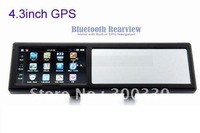 "4.3"" GPS,car gps ,4.3inch gps Touch Screen WinCE 5.0 GPS Navigator Rearview Mirror ,bluetooth AV-In / FM / 2GB with map"