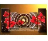 oil paintings canvas abstract wall art Oil Painting Natural scenery 5pcs/ set POP Modern home decoration art free shipping  C194