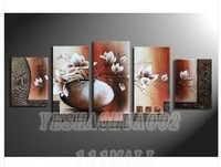 oil paintings canvas abstract wall art Oil Painting Natural scenery 5pcs/ set POP Modern home decoration art free shipping  C211