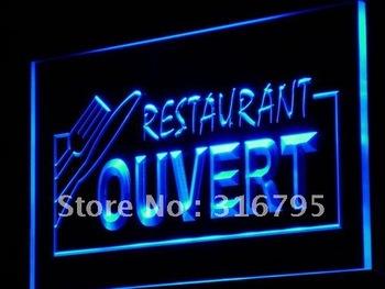 j184-b OUVERT Restaurant OPEN Food Neon Light Sign