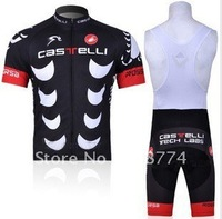 2011 Best Selling Fast Shipping High Quality Cycling Jersey+Bib Short Set/Cycling Wear/Castelli Bicycle Wear/Cycling Clothing