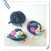 Hand crochet flower hat 20pcs per lot free shipping