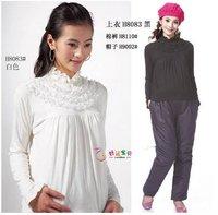 Free shipping 2011 autumn winter pure cotton coat long sleeve blouse pregnant women render unlined upper garment
