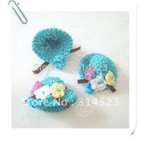 Hand crochet flower hat white 20pcs per lot free shipping
