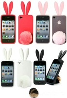 Free Shippping! Silicone phone cases for iphone 4,any color and design are available