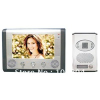 Water-proof 7 inch TFT-LCD wired color vdieo doorphone with Handfree intercom