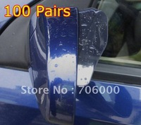 Wholesale Lots Of 100 Bendable Car Rearview Mirror Rain Deflector Cover With 3M Tape New In Retail Package (2 Pcs = 1Pairs)