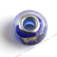 Wholesale - 30 Blue  Lampwork Glass Beads Jewelry Fit Diy Necklace Bead Bracelet ,hole dia: 4.8mm free shipping 151328