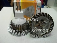 Plating shell 3X1W MR16(12v) warm or pure white LED SpotLights/led spotlight/ceiling spotlights
