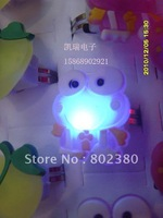 Free Shipping Wholesale Novelty LED Flashing Cute Cartoon Ring Fashion Ring led ring Color Changing Mixed Design