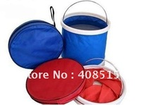 Free Shipping 11L Foldaway water Portable Folding Bucket Camping Fishing 30pcs/lot