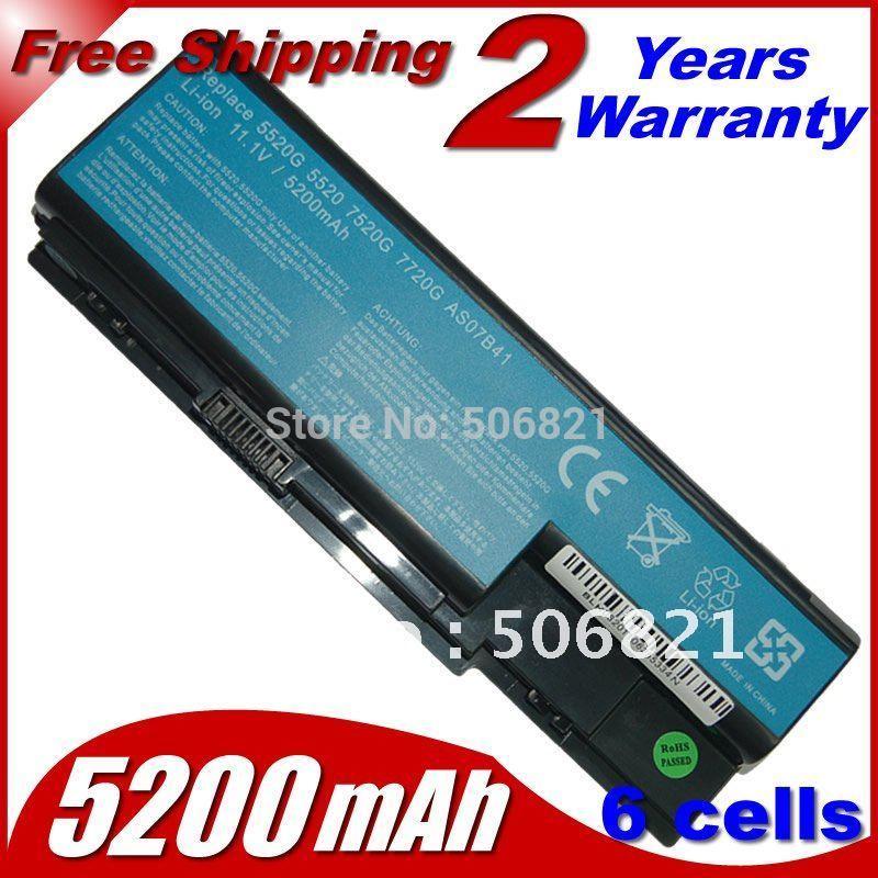 Laptop Battery AK.006BT.019 AS07B31 AS07B41 AS07B51 AS07B61 AS07B71 LC.BTP00.008 LC.BTP00.014 For Acer Aspire 5220 5230 5235(China (Mainland))
