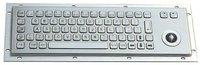 IP65 vandal proof industrial stainless steel keyboard with 25mm trackball