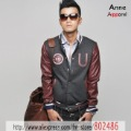 fashion jackets UK letters put together pu leather sleeves baseball clothes jackets coat VIP cheap Wholesale,JK76