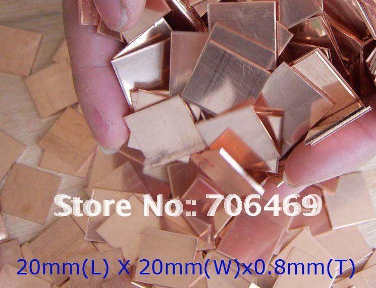 Wholesale 100pcs/lot CPU GPU Heatsink Copper Pad Shim for most laptop notebook(China (Mainland))