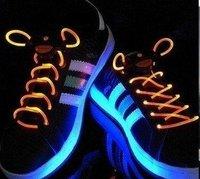 Fedex shipping!  novelty product! 100pcs/lot Fiber Optic LED Shoe laces shoelaces neon led strong light gadgets LED laces 50