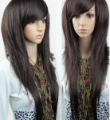 fashion Sexy long brown straight hair women's health wigs wigs Free shipping