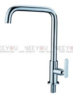 Brass Chrome Single Cold Faucet Kitchen Faucet Basin Faucet NY16038--Free Shipping