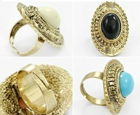 Free shipping~ 2012 New European wild temperament retro oval ring