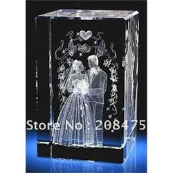 crystal cube with laser for wedding gifts,souvenir,corporation gifts with free shipping by DHL(China (Mainland))