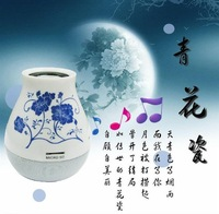 Qing blue and white porcelain vase tumbler mini speaker can be plugged TF sound super good quality small speakers