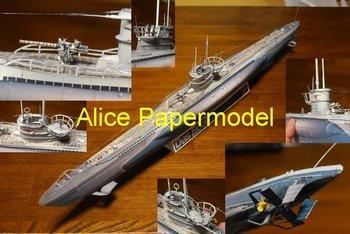 [Alice papermodel] Longest 1 meter 1:72 48  German U-Boat U96 submarine battleship military models