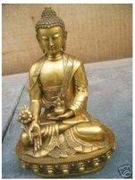 Rare old Large Tibet Tibetan brass Medicine Buddha Statue Free shipping