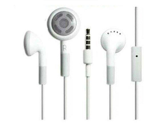 500pcs/lot Headset Headphone Earphone w/Mic for iPod Touch iPhone freesample