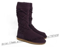 Free shipping ladies snow boots women snow boots 5879 brown